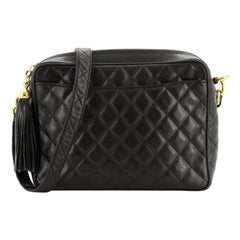 Chanel Model: Vintage Front Pocket Camera Bag Quilted Caviar Medium