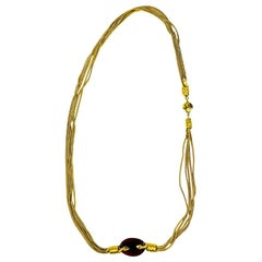 CHANEL Molton Glass Long Necklace By Goossens