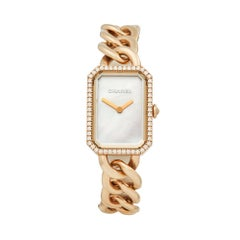Chanel Montre Premiere 18K Rose Gold H4412 Ladies Wristwatch