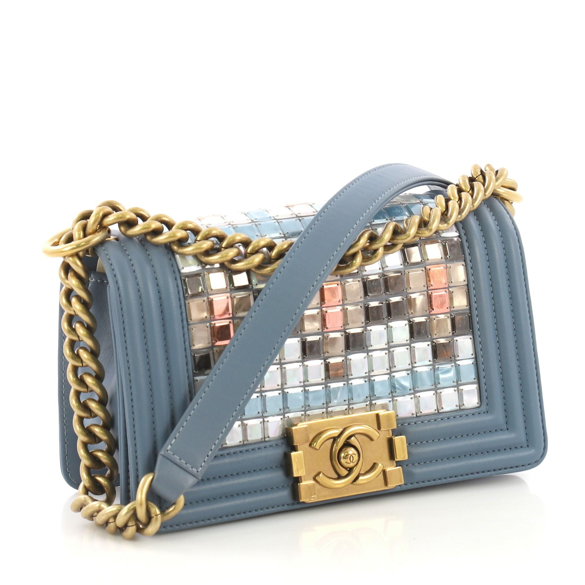 23f8e5576108 Chanel Mosaic Boy Flap Bag Embellished Lambskin Small at 1stdibs