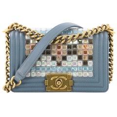 Chanel Mosaic Boy Flap Bag Embellished Lambskin Small