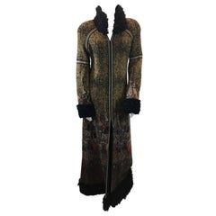 Chanel 'Moscow' Collection Fur Trimmed Coat