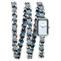 Chanel Mother of Pearl Stainless Steel Leather Rock Quartz Women'Wristwatch 16MM