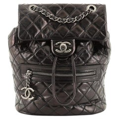 Chanel Mountain Backpack Quilted Glazed Calfskin Small