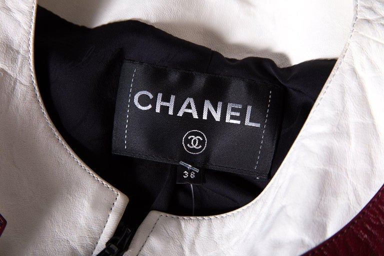 CHANEL  Multi Color-Block Leather Jacket  For Sale 2