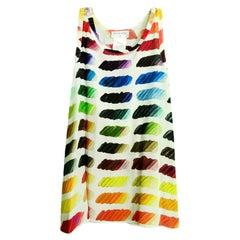 Chanel Multi-Color Silk Sleeveless Colorama Top sz FR38 rt. $1,450