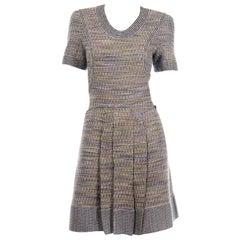 Chanel Multi-Colored Tweed Short Sleeve Dress Spring Summer 2015