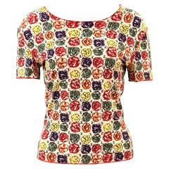 Chanel Multi-Coloured Floral Print T-Shirt