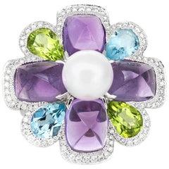 Chanel Multi Gem Flower Ring