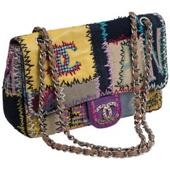 Chanel Multi Patchwork Jumbo Flap Purse