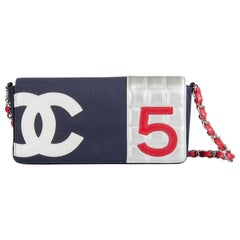 Chanel Multicolor Canvas and Leather No. 5 Flap Bag