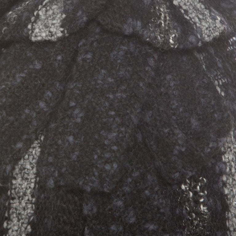 Chanel Multicolor Chunky Knit Tie Detail Cape Style Open Front Long Cardigan M For Sale 1