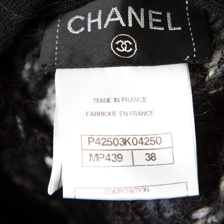 Chanel Multicolor Chunky Knit Tie Detail Cape Style Open Front Long Cardigan M For Sale 2