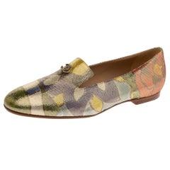 Chanel Multicolor Lurex Crepe Fabric Paris-Dubai Loafers Size 41