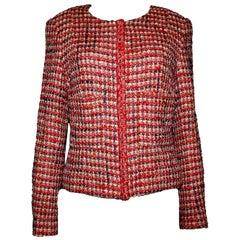 Chanel Multicolor Maison Lesage Fantasy Tweed & Crochet Knit Jacket Blazer