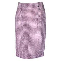 CHANEL Multicolor & Pinks Tweed Skirt