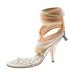 a82f74dc1a6 Chanel Beige Jelly Camellia Flower Sandals Size 39 at 1stdibs