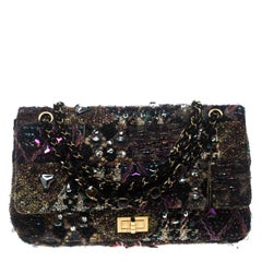 e3d7ec3bddd7 Chanel Multicolor Tweed and Jeweled Limited Edition Lesage Reissue Flap Bag