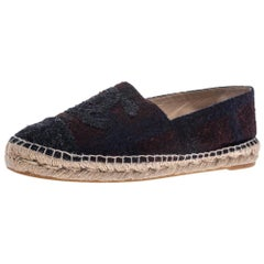 Chanel Multicolor Tweed CC Espadrilles Size 39
