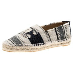 Chanel Multicolor Tweed CC Espadrilles Size 41