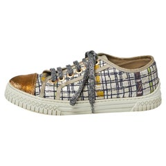 Chanel Multicolor Tweed CC Trainer Sneakers Size 37