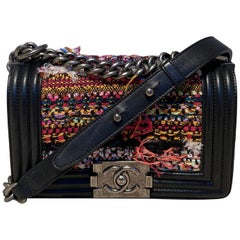 Chanel Multicolor Tweed Small Le Boy Bag