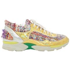Chanel Multicolor Tweed Sneakers
