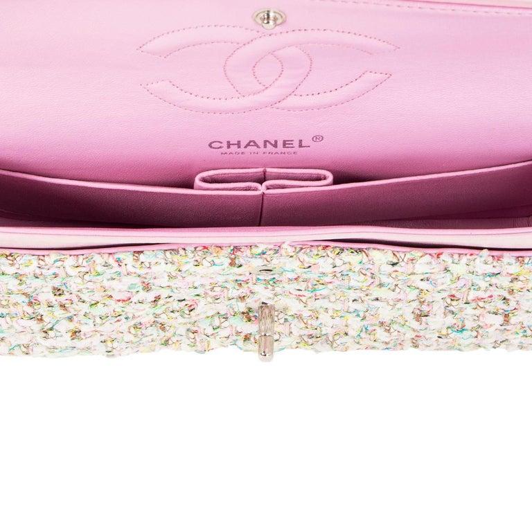Women's CHANEL multicolor TWEED TIMELESS CLASSIC MEDIUM FLAP Shoulder Bag
