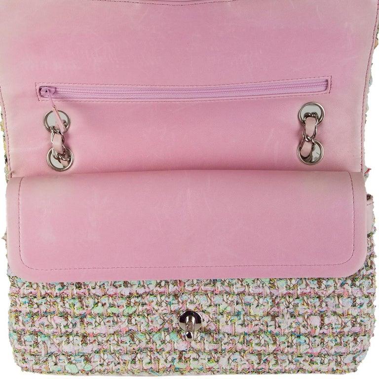 CHANEL multicolor TWEED TIMELESS CLASSIC MEDIUM FLAP Shoulder Bag 1