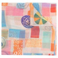 Chanel Multicolour Cashmere/Silk Scarf