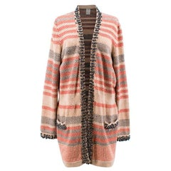 Chanel Multicolour Stripe Cardigan Size 48 / XL