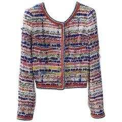 Chanel Multicolour Tweed Lesage 2015 Jacket