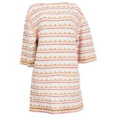 CHANEL multicoloured cotton blend Short Sleeve 2019 Shift Dress 38 S