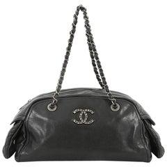 Chanel Multipocket Bowling Bag Caviar Small