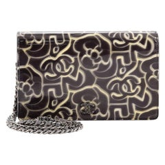 Chanel MWallet on Chain Camellia Printed Patent