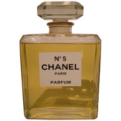 Chanel N5 Huge Store Display Perfume Bottle Advertising, France, 20th Century