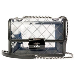 Chanel Naked Transparent Multi Compartment Flap Bag