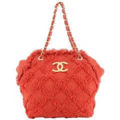 Chanel Nature Tote Quilted Tweed