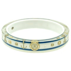 Chanel Nautical Anchor Bangle with Logo & Pearls 2010