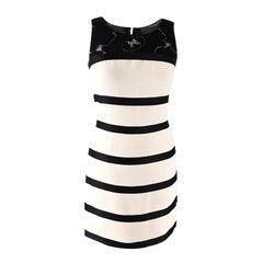 Chanel Nautical Striped Silk & Lace Shift Dress - US 2