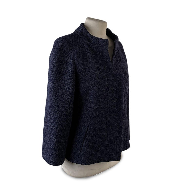 MATERIAL: Nylon, Cotton, Wool COLOR: Blue MODEL: Jacket GENDER: Women SIZE: Extra-Small COUNTRY OF MANUFACTURE: France Condition CONDITION DETAILS: A :EXCELLENT CONDITION - Used once or twice. Looks mint. Imperceptible signs of wear. Measurements