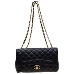 Chanel Navy Blue Quilted Leather Mademoiselle Chic Flap Shoulder Bag