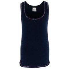 Chanel Navy CC Embellished Vest 36
