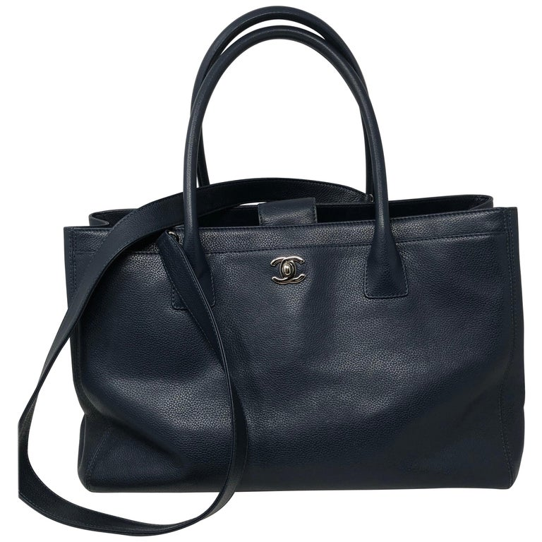 Chanel Navy Cerf Executive Per Tote