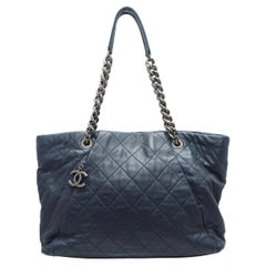 Chanel Navy Chic Quilted Tote Bag