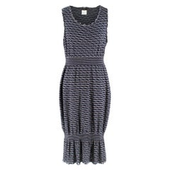 Chanel Navy Knit Sleeveless Dress - Size US 8
