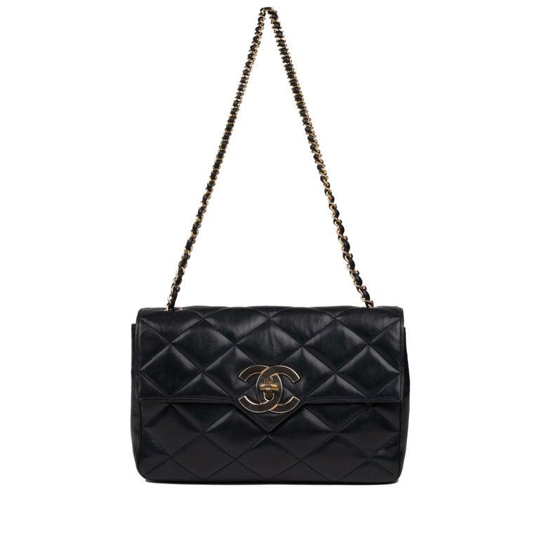 Chanel Navy Lambskin shouldr Bag For Sale 6