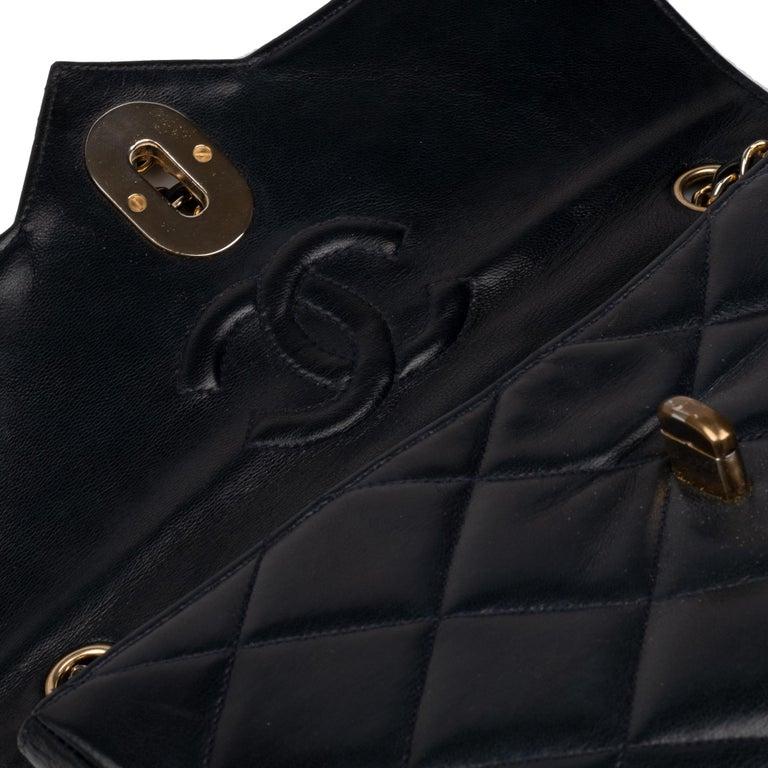 Black Chanel Navy Lambskin shouldr Bag For Sale