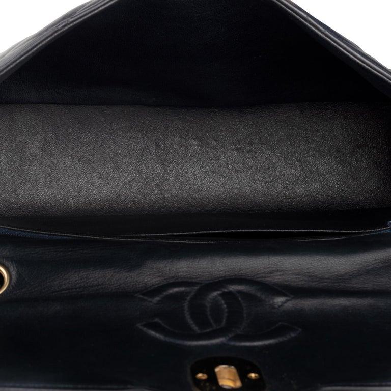 Women's Chanel Navy Lambskin shouldr Bag For Sale