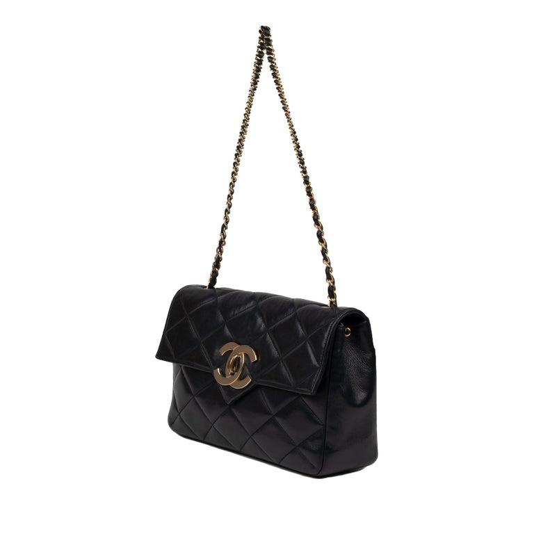 Chanel Navy Lambskin shouldr Bag For Sale 1